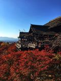 Kiyomisu-dera, tempio a Kyoto Immagini Stock Libere da Diritti
