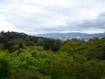 kiyomizu天空寺庙视图 免版税库存照片