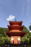 Kiyomizu寺庙的游人 库存图片