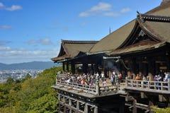 Kiyomizu寺庙,京都,日本 库存图片