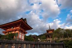 Kiyomizu寺庙 免版税库存照片