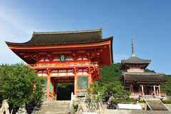 kiyomizu寺庙 图库摄影