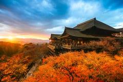 Kiyomizu-dera寺庙在京都,日本 免版税库存图片