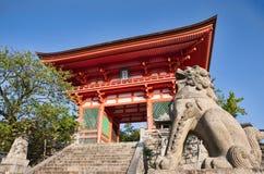 Kiyomizu-dera寺庙在京都 库存图片