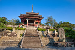 Kiyomizu-dera寺庙在京都 免版税库存图片