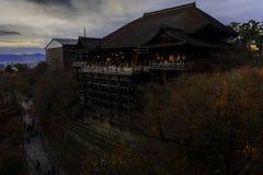Kiyomizu-dera Świątynia Zdjęcie Royalty Free