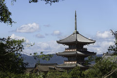 Kiyomizu-dera świątynia, Kyoto fotografia stock