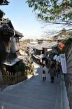 kiyomizu dera στον τρόπο Στοκ Εικόνες