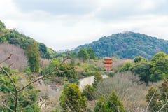 Kiyomizu-dera Киото, Япония Стоковое Изображение