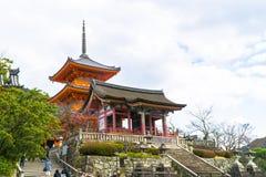 Kiyomizu-dera Киото, Япония Стоковые Фото