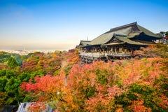 Kiyomizu Dera in Autumn. Kyoto, Japan at Kiyomizu-dera shrine in the autumn season Stock Images