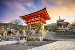 Kiyomizu-Dera Boeddhistische Tempel van Kyoto, Japan Royalty-vrije Stock Afbeelding