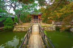 Kiyomizu-Dera Buddhist temple in Kyoto during autumn season Stock Photo