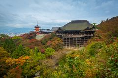 Kiyomizu-Dera Buddhist temple in Kyoto Stock Photo