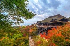 Kiyomizu-Dera Buddhist temple in Kyoto. During autumn season, Japan Stock Photography