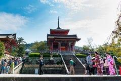 Kiyomizu-dera buddist temple in Kyoto Royalty Free Stock Photography