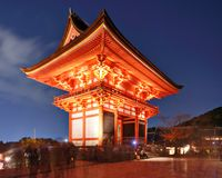Kiyomizu-dera Gate Royalty Free Stock Photo