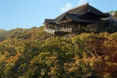 Kiyomizu Dera japanese temple Royalty Free Stock Photography