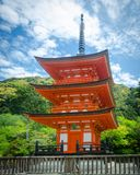 Kiyomizu dera in Kyoto. Japan. Kiyomizu-dera in Japanese temple of pure water The set is part of the Historical Monuments of ancient Kyoto, belonging to the royalty free stock photo
