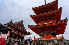 KIYOMIZU DERA, KYOTO, JAPONIA Zdjęcie Stock