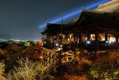 Kiyomizu-dera Lightup Immagine Stock