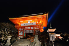 Kiyomizu-Dera Lightup Royalty-vrije Stock Foto
