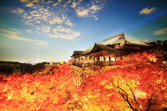 Kiyomizu-dera, Otowa-san Kiyomizu-dera es oficialmente un independ Imágenes de archivo libres de regalías