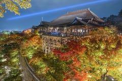 Kiyomizu-dera relikskrin i Kyoto Fotografering för Bildbyråer