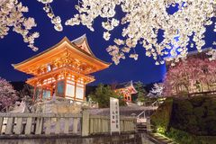 Kiyomizu-dera Shrine In the Spring Stock Photos