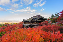 Kiyomizu-dera stage Royalty Free Stock Images