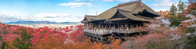 Kiyomizu-dera stage in Kyoto, Japan Royalty Free Stock Images