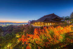 Kiyomizu-dera tempel Royaltyfria Bilder