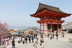 Kiyomizu-dera tempel Royaltyfri Bild