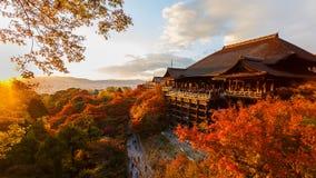 Kiyomizu-dera tempel i Kyoto Fotografering för Bildbyråer
