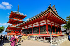 Kiyomizu-dera tempel i Kyoto, Japan, Royaltyfri Bild