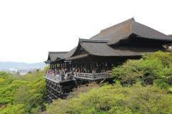 Kiyomizu-dera tempel i sommar, Kyoto Fotografering för Bildbyråer