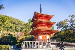 Kiyomizu-dera tempel arkivbilder