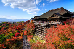 Kiyomizu dera temple in autumn, Kyoto, Japan Royalty Free Stock Photography