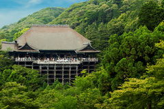 Kiyomizu-dera Temple Distant Blue Sky Forest H Royalty Free Stock Image