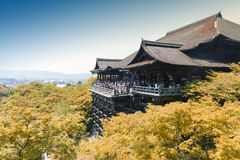 Kiyomizu-dera Temple, famous Buddhist temple in Kyoto, Japan.  Royalty Free Stock Image