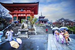 Kiyomizu-dera Temple Gate in Kyoto, Japan Royalty Free Stock Photos