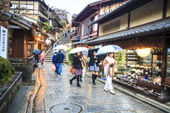 Kiyomizu-dera Temple Gate in Kyoto, Japan Stock Photo