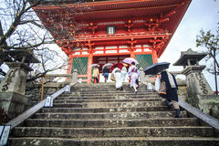 Kiyomizu-dera Temple Gate in Kyoto, Japan Stock Photography