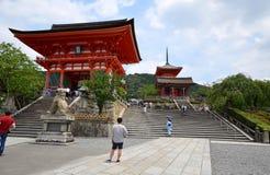 Kiyomizu-dera Temple Gate in Kyoto, Japan. Stock Image