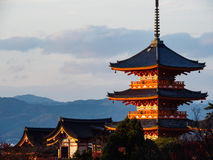 Kiyomizu-dera temple in Kyoto, Japan Royalty Free Stock Photo