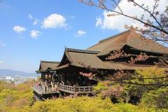 Kiyomizu-dera Temple. Kyoto, Japan - May 28, 2014: The Kiyomizu-dera Buddhist Templeof Kyoto, Japan on an spring day feat. cherry blossum Stock Photo