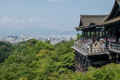 Side Shot of Kiyomizudera Temple Stock Images