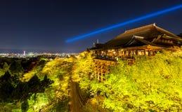 Kiyomizu dera temple ,light up in Spring, Kyoto, Japan Royalty Free Stock Photo