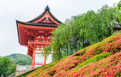 Kiyomizu-Dera Temple on a overcast spring day, Kyoto, Japan Royalty Free Stock Images