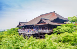 Kiyomizu-Dera Temple on a overcast spring day, Kyoto, Japan Stock Images
